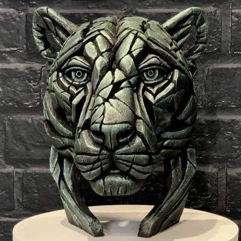 Panther Bust (limited edition) Green Dream by Matt Buckley at Edge Sculpture