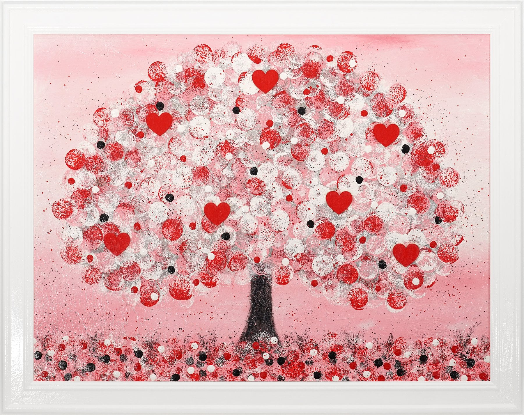Heart Tree 2 original painting by Julie from Artworx Gallery