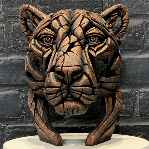 Panther Bust (limited edition) Jungle Flame by Matt Buckley at Edge Sculpture