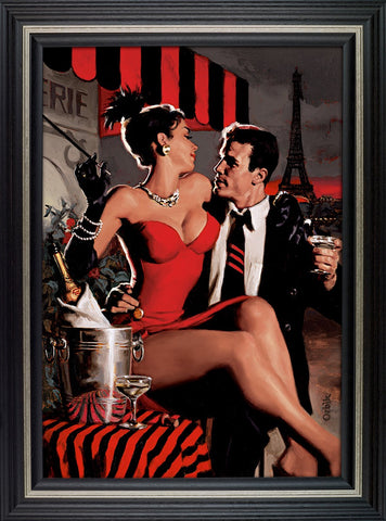 Midnight in Paris limited edition framed print by Glen Orbik