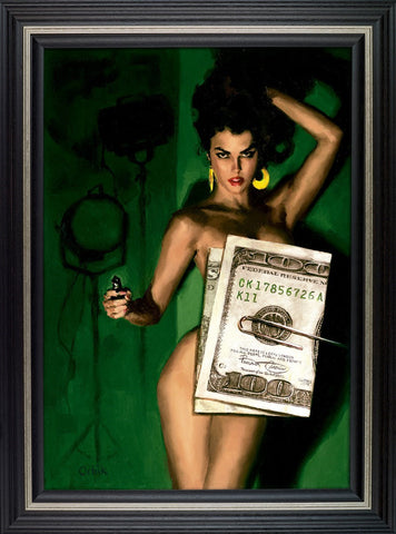Money Shot limited edition framed print by Glen Orbik