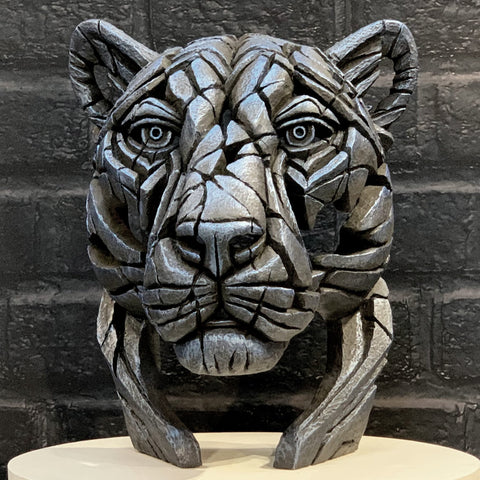 Panther Bust (limited edition) Night Shadow by Matt Buckley at Edge Sculpture