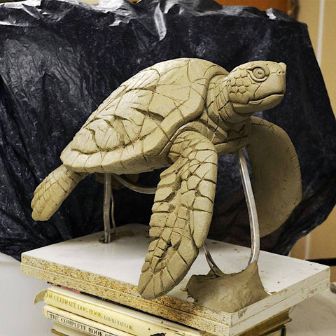 Sea Turtle Edge Sculpture Clay