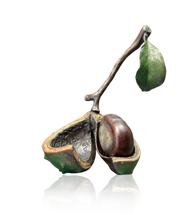 Conker Solid Bronze Sculpture by Michael Simpson