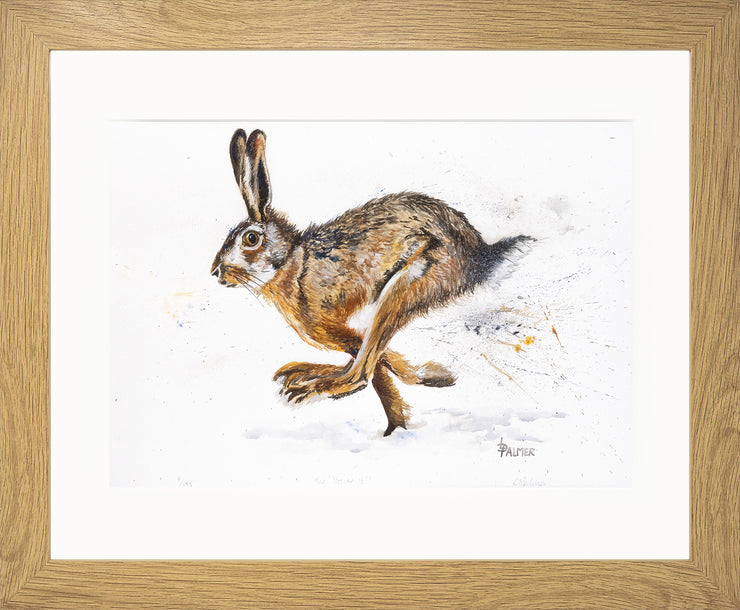 Tig! You're It! limited edition print by Lesley Palmer Framed Oak