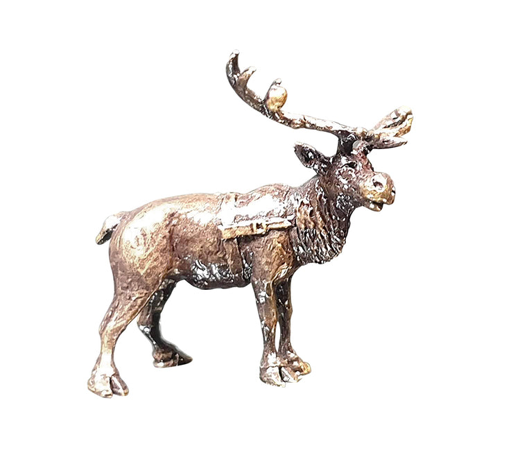 Reindeer Bronze Miniature Sculpture from Butler and Peach