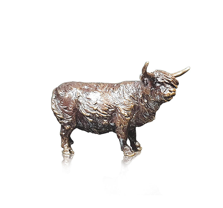 Highland Cow Miniature Bronze from Butler and Peach by Richard Cooper