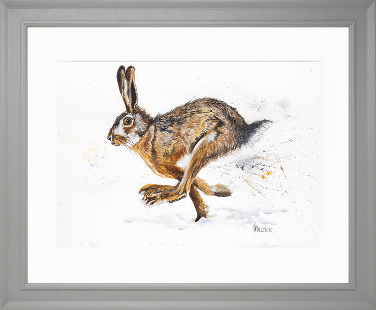 Tig! You're It! limited edition print by Lesley Palmer Framed Grey