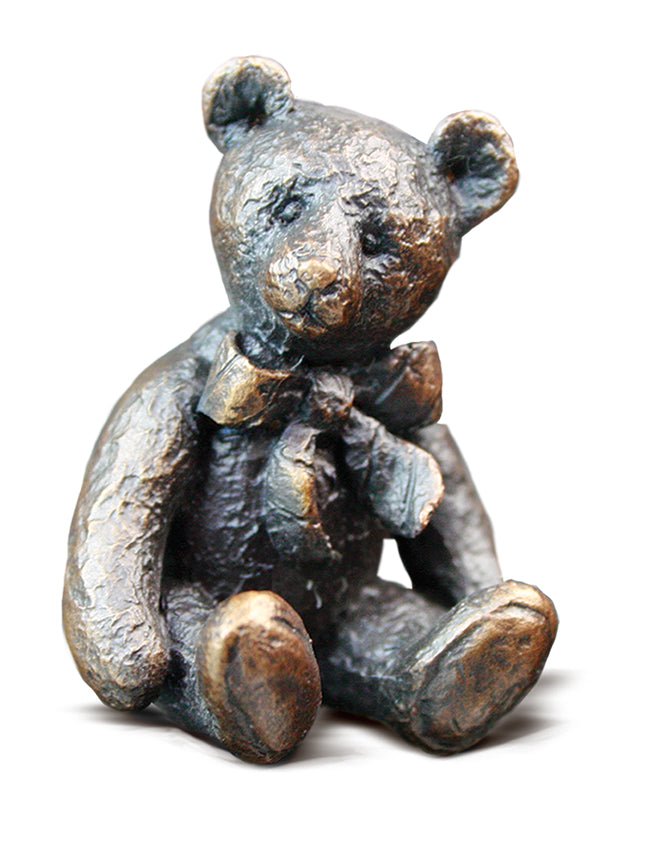 Theodore Solid Bronze Teddy Bear by Michael Simpson