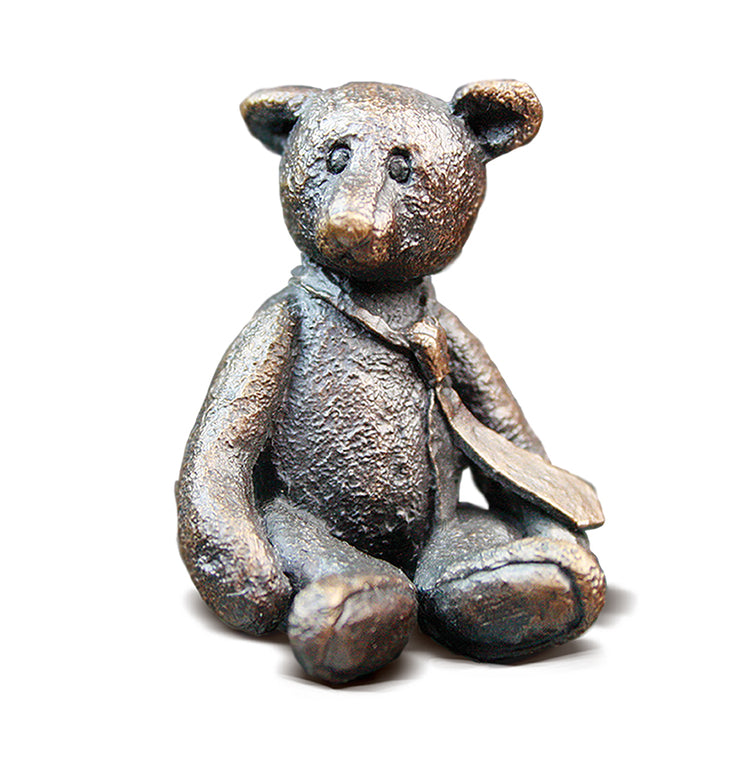 Edward Solid Bronze Teddy Bear by Michael Simpson