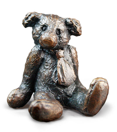 Edgar Solid Bronze Teddy Bear by Michael Simpson