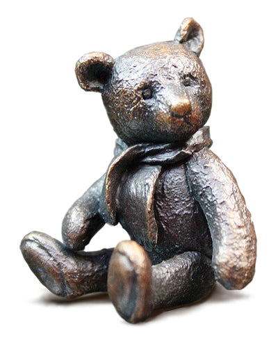 Monty Solid Bronze Teddy Bear by Michael Simpson