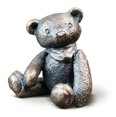 Baby Henry Solid Bronze Teddy Bear by Michael Simpson
