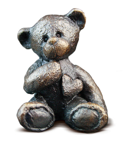 Dottie Solid Bronze Teddy Bear by Michael Simpson