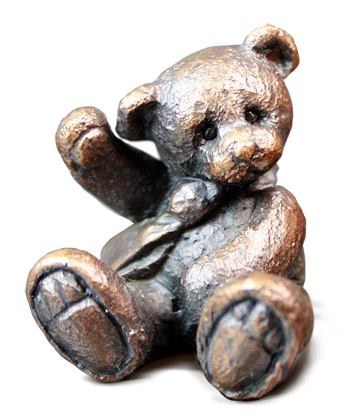 Milo Solid Bronze Teddy Bear by Michael Simpson