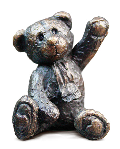 Bertie Solid Bronze Teddy Bear by Michael Simpson