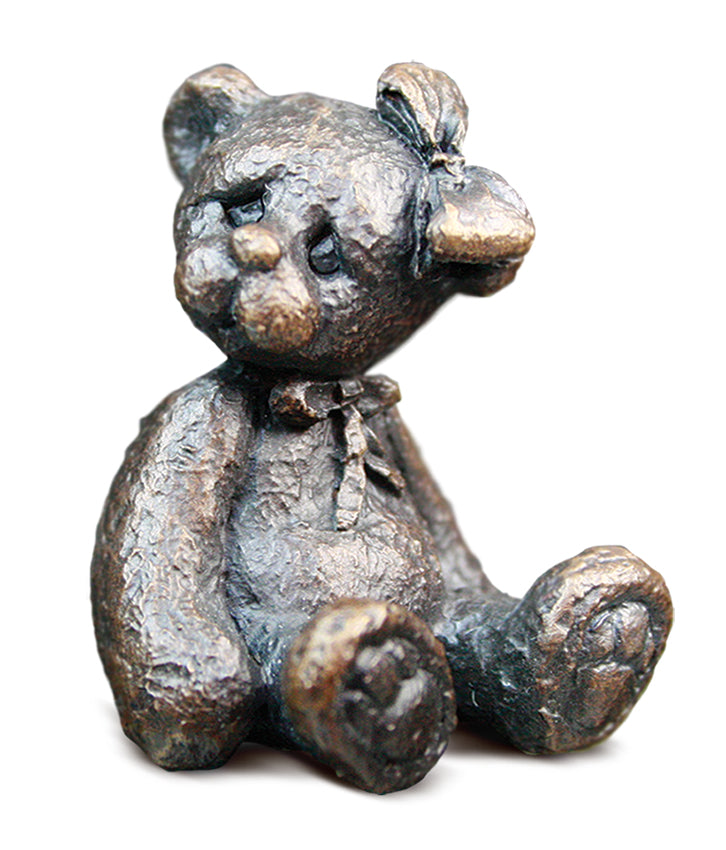 Florence Solid Bronze Teddy Bear by Michael Simpson
