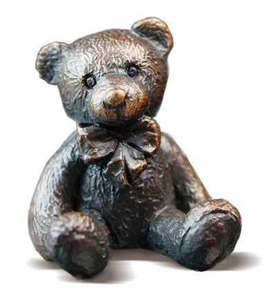 Hugo Solid Bronze Teddy Bear by Michael Simpson