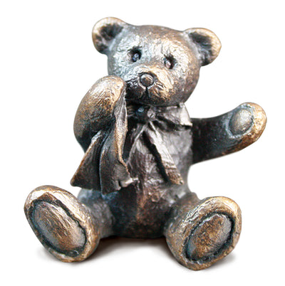 Neville Solid Bronze Teddy Bear by Michael Simpson