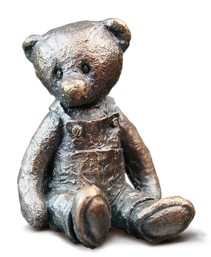 Hattie Solid Bronze Teddy Bear by Michael Simpson