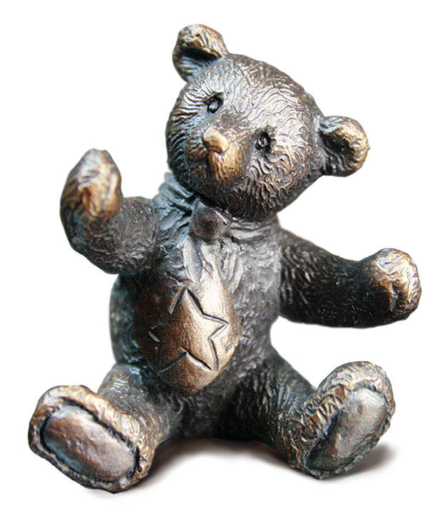 Charlie Solid Bronze Teddy Bear by Michael Simpson