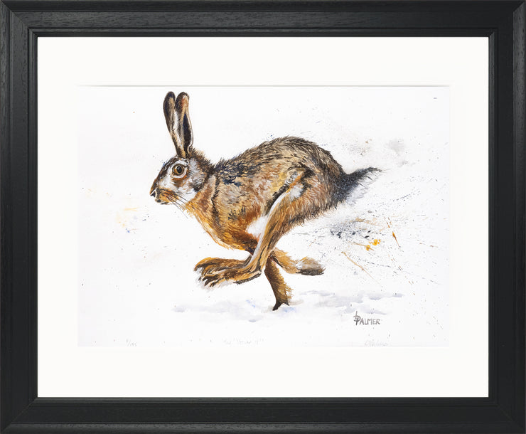 Tig! You're It! limited edition print by Lesley Palmer Framed Black
