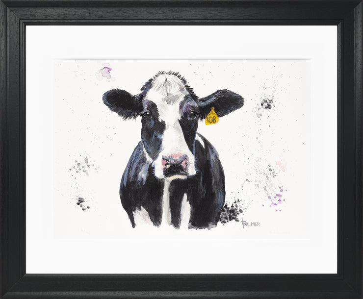 Dairy Daisy Limited Edition Print by Lesley Palmer Framed Black