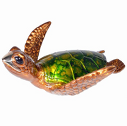 Hula Bronze Sea Turtle Sculpture by Chris Barela