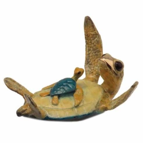 Ohana Bronze Sea Turtle Sculpture by Chris Barela