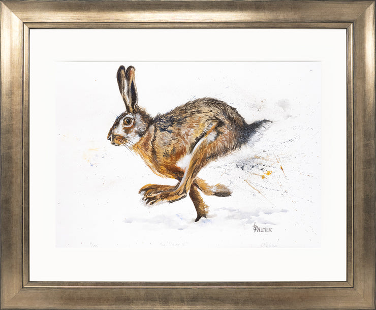Tig! You're It! limited edition print by Lesley Palmer Framed Bronze