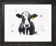 Dairy Daisy Limited Edition Print by Lesley Palmer Framed Ornate Black