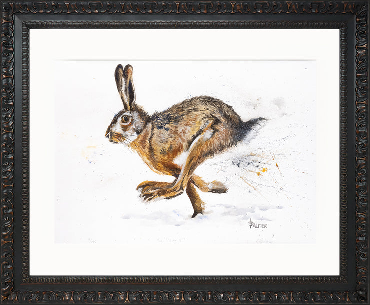 Tig! You're It! limited edition print by Lesley Palmer Framed Ornate Black