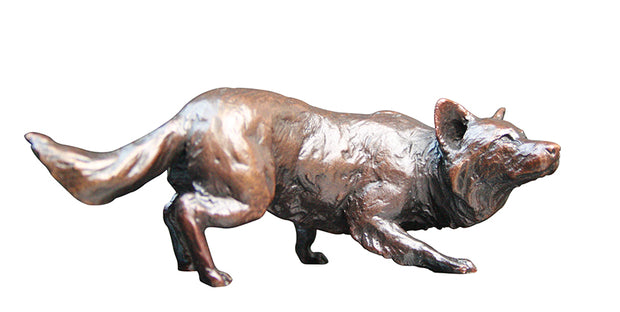 Border Collie Solid Bronze Sculpture by Michael Simpson
