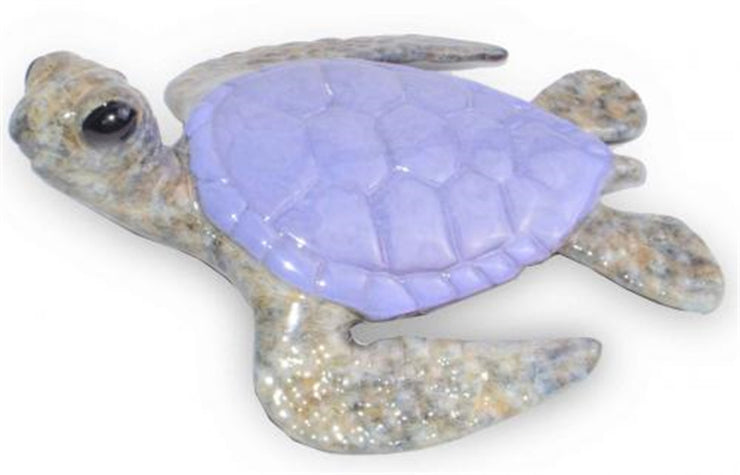 Keiki Bronze Purple Sea Turtle Sculpture by Chris Barela