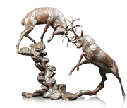 Highland Falls Solid Bronze Sculpture by Michael Simpson