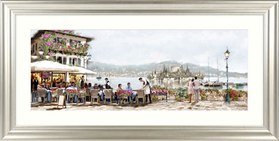 Lake Café framed print by MacNeil