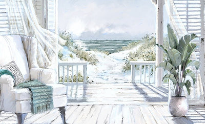Beach Whispers boxed canvas print by Macneil