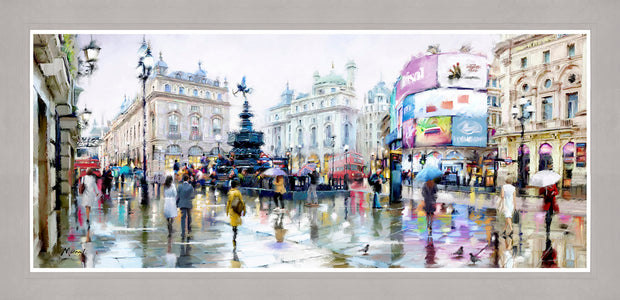 Piccadilly Circus framed print by MacNeil