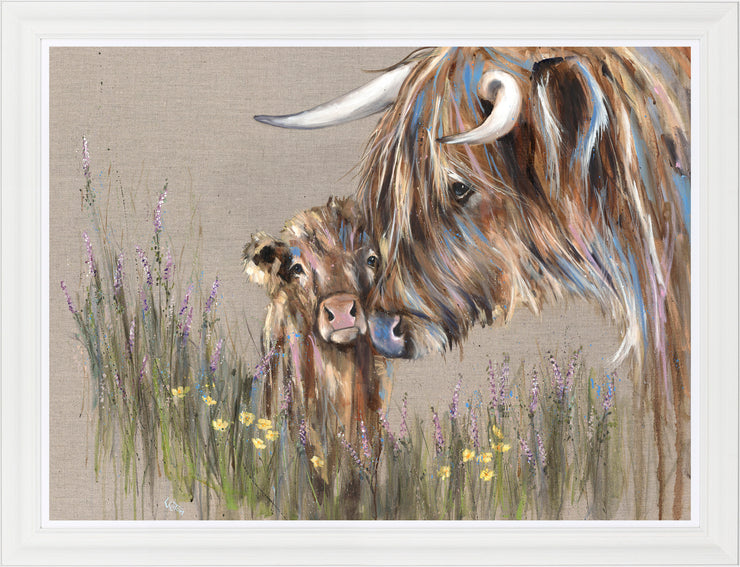 Heather and Buttercup framed print by Louise Luton