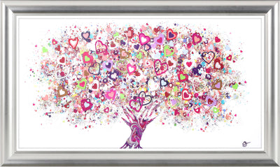 CLICK & COLLECT Tree of Love framed print by Sara Otter