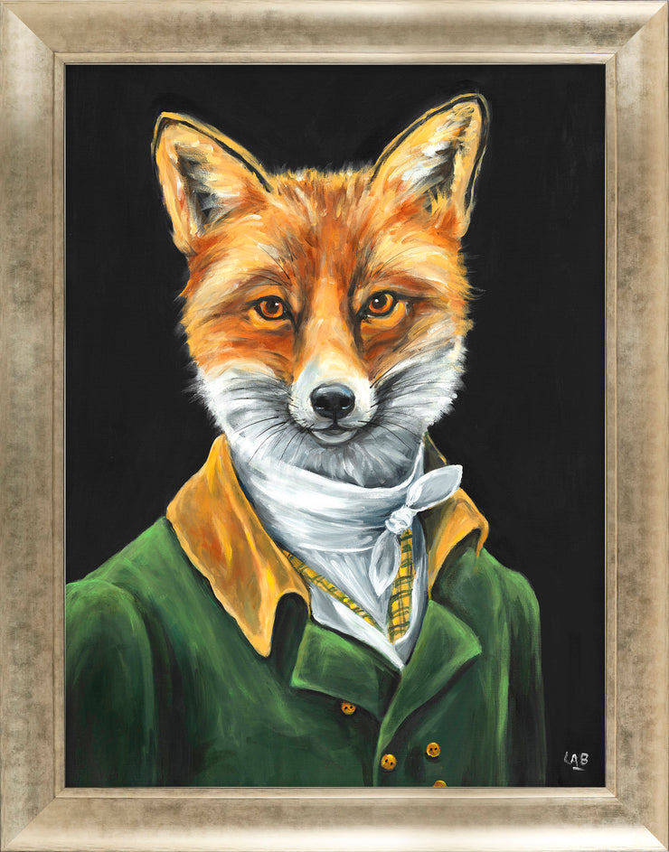 CLICK & COLLECT Dapper Fox framed print by Louise Brown
