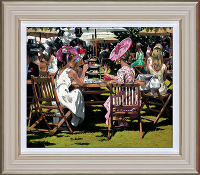 Afternoon Tea at Ascot limited edition print by Sherree Valentine Daines