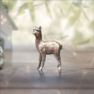 Alpaca Miniature Bronze from Richard Cooper Butler and Peach