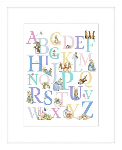 Alphabet framed print by Beatrix Potter