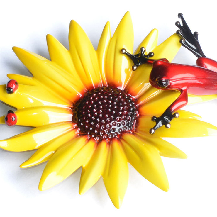 Sunflower Bronze Sculpture by Tim Cotterill Frogman
