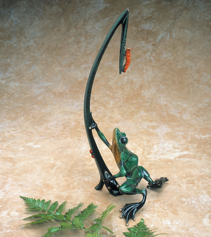 Dinner for Two Limited Edition Bronze Sculpture by Tim Cotterill Frogman
