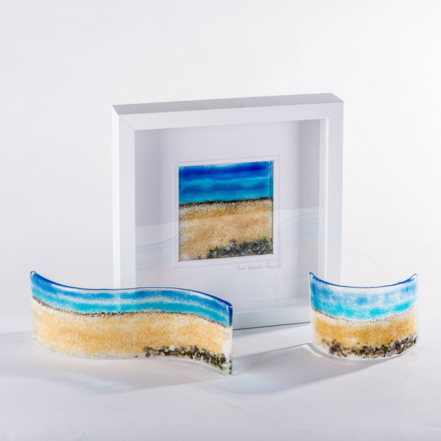 Beach fused glass art by Pam Peters