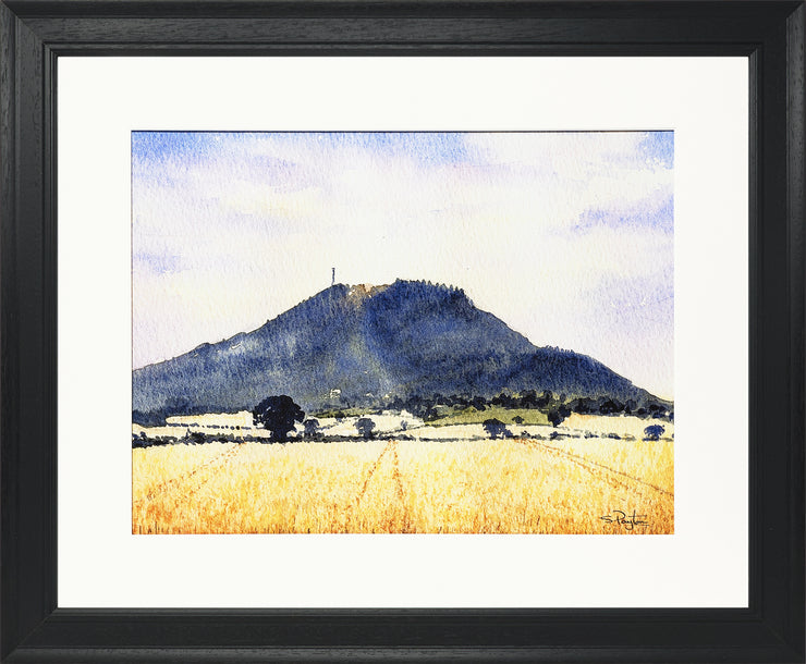 The Wrekin Shropshire Print by Sue Payton Black Frame