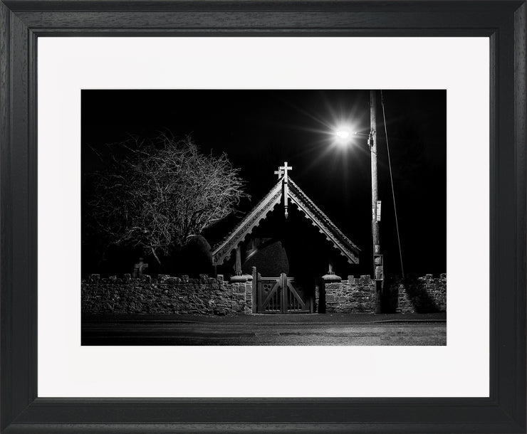 The Gate Limited Edition Print by Neil Murray Black Frame