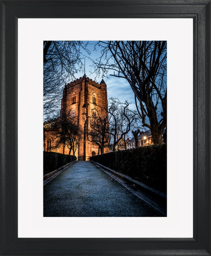 St Nicholas limited edition print by Neil Murray Black Frame